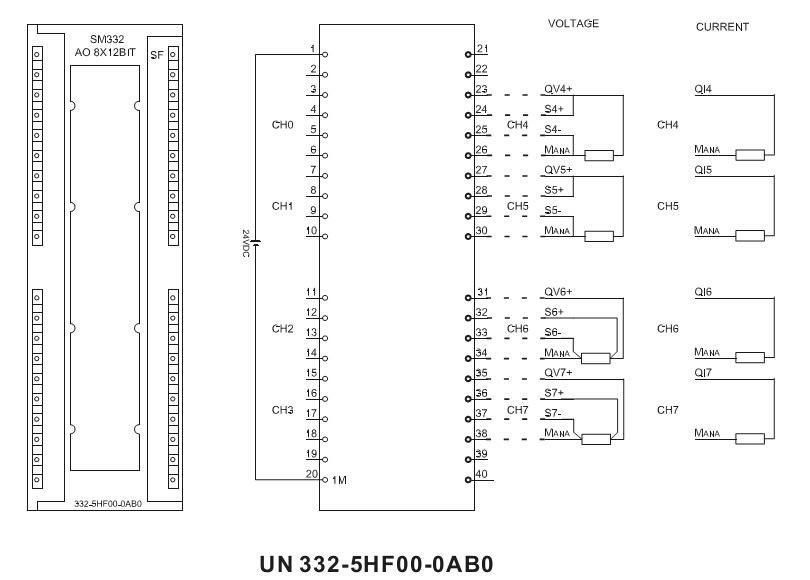sm332 8 analog output 300 plc module 332