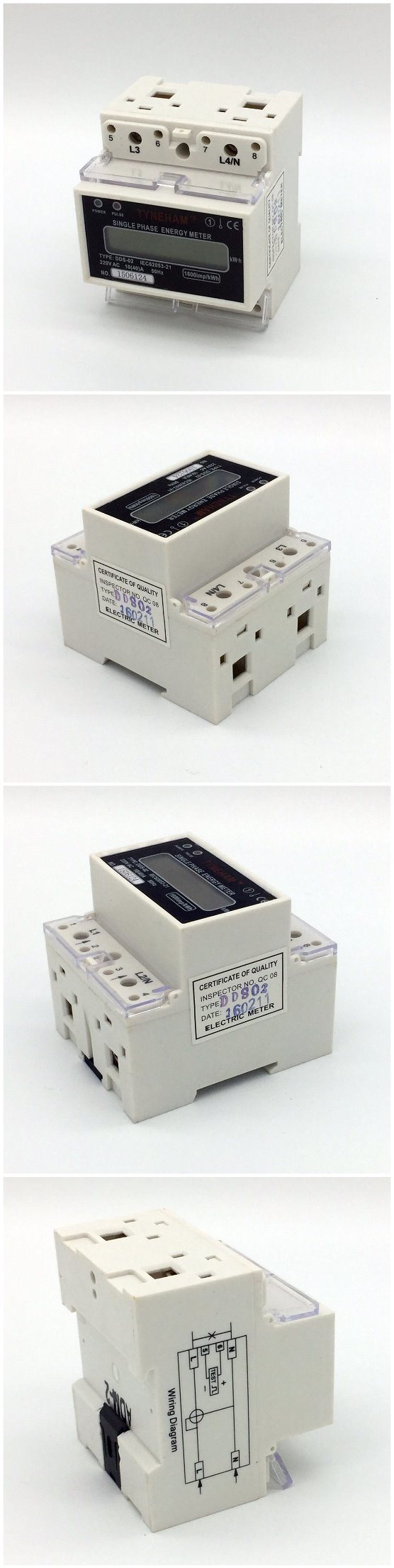 Dds 5l Single Phase Two Wire Three Din Rial Power Energy Meter Wiring Diagram Appearance Packing