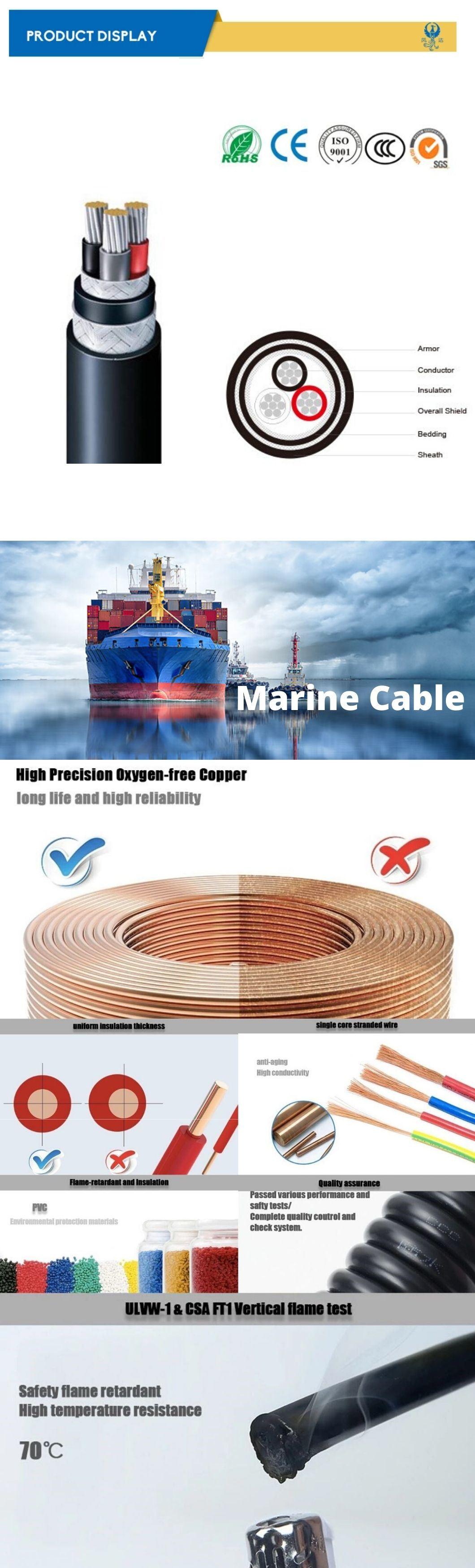 Fa-Dpyc/Tpyc/Spyc 1-3 Cores Marine Power & Light Flame Retardant Electrical Cable