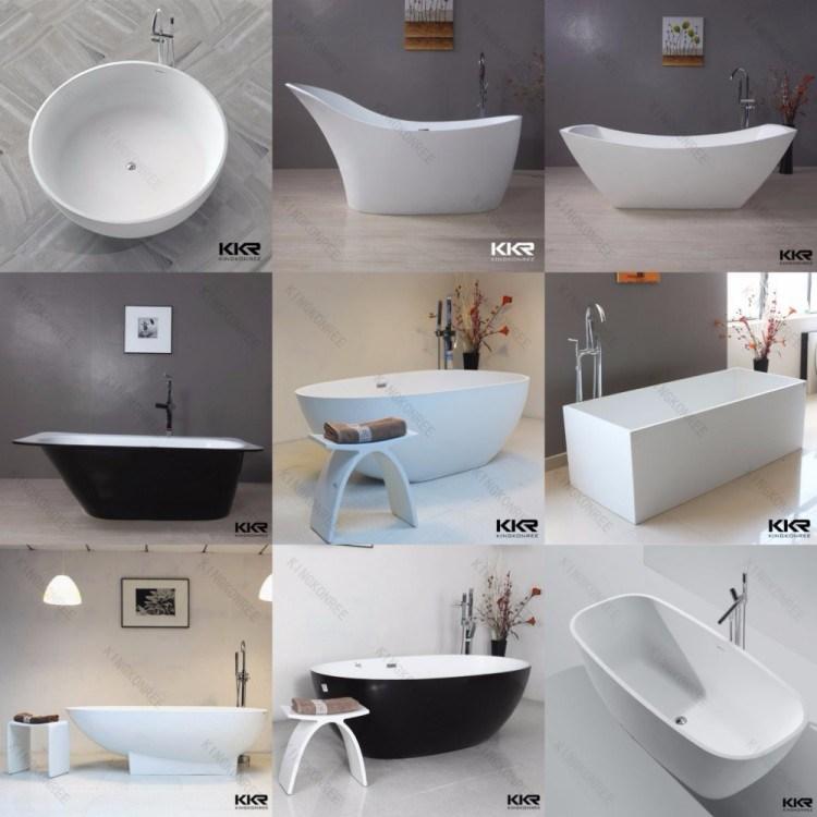 Vasca da bagno nera di pietra artificiale del reticolo di - Vasca da bagno nera ...