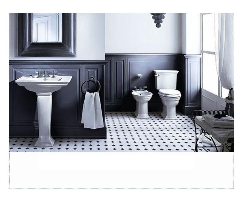 En blanco y negro mosaico de cerámica para baño Muro (C655143) – En ...