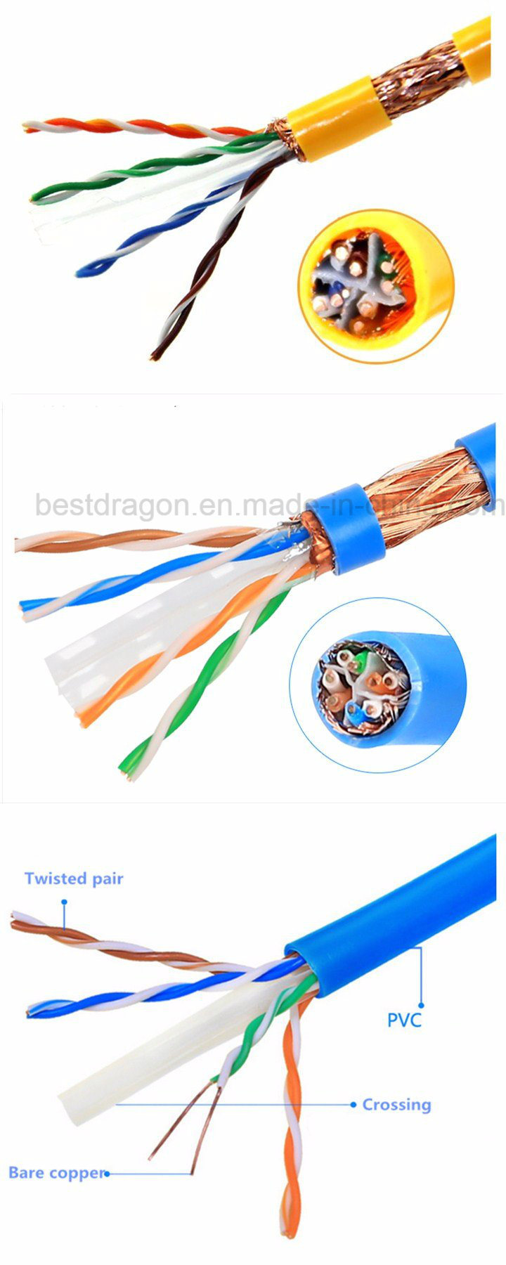 Indoor Utp Ftp Cat5e 305m 4 Pair 24awg Network Cable Lan Wiring On Cat5 Solid China Goods Can Be Delivered By Air Express Or Sea International As Fedex Ups Dhl Tnt You Choose The Best Way Wish