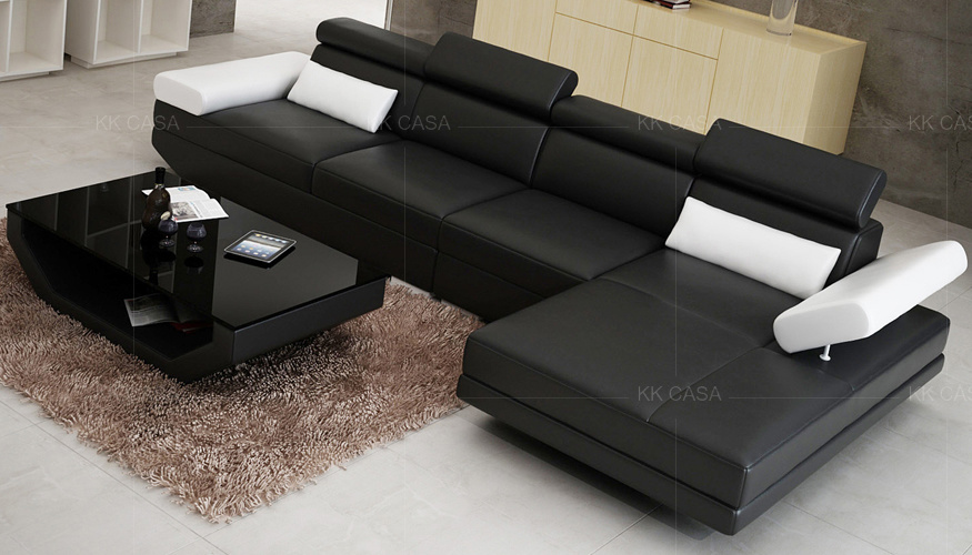 Pleasant Design American Modern L Shape Sofa Italian Leather Sofa Ibusinesslaw Wood Chair Design Ideas Ibusinesslaworg