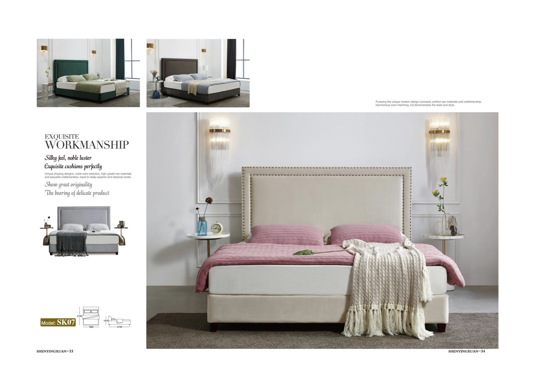 Hot Selling Simple Fashion Fabric Or Pu Leather Bedroom Set And Headboard For Furniture Mattress China Bedroom Hotel Furniture Made In China Com