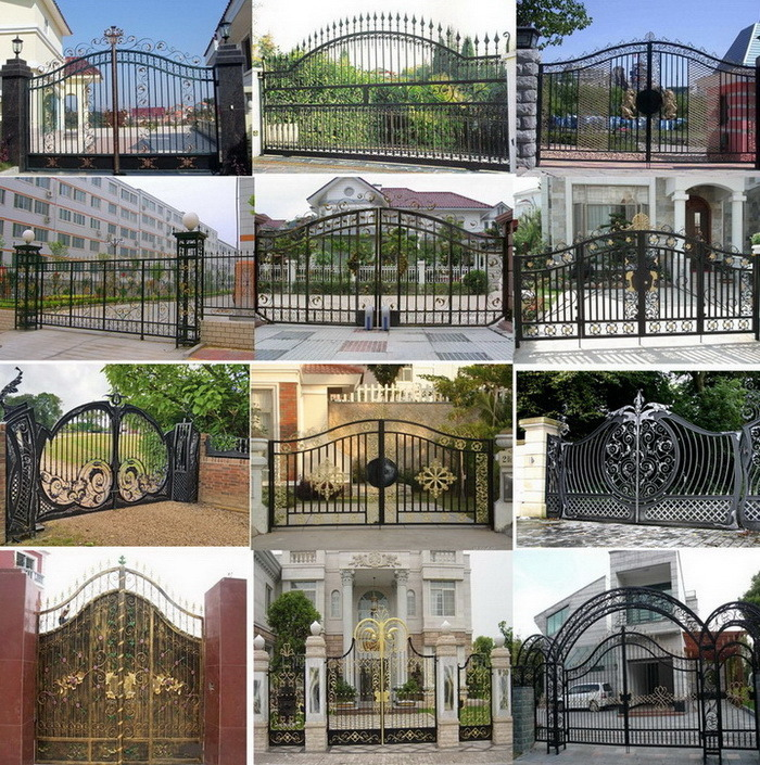 Wrought Iron Main Entrance Security Front Doors Grill Design China