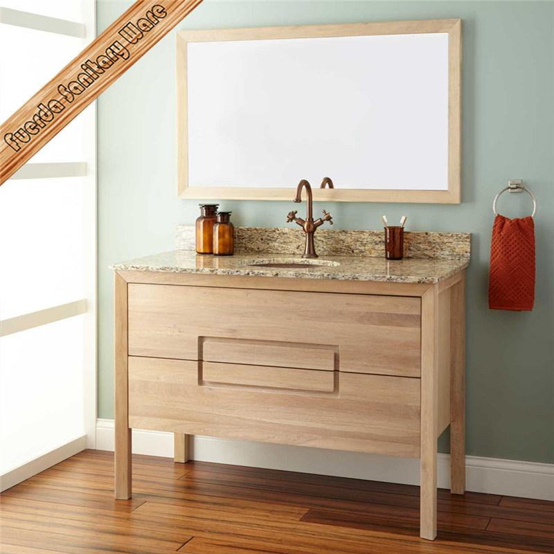 Couleur du bois chaud vendre Salle de bains Meubles autoportants ...