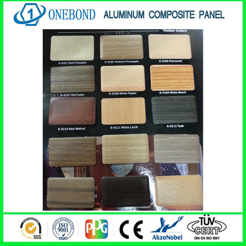 Surface Applied Aluminum Composite Panel : Superfície de madeira à prova painel composto