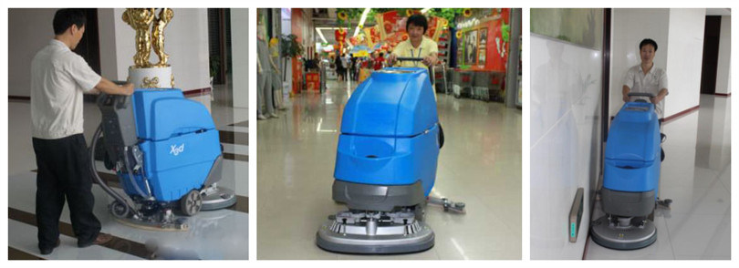 Hw-X3 Series Hand Push Floor Scrubber Machine with Auto Drive System