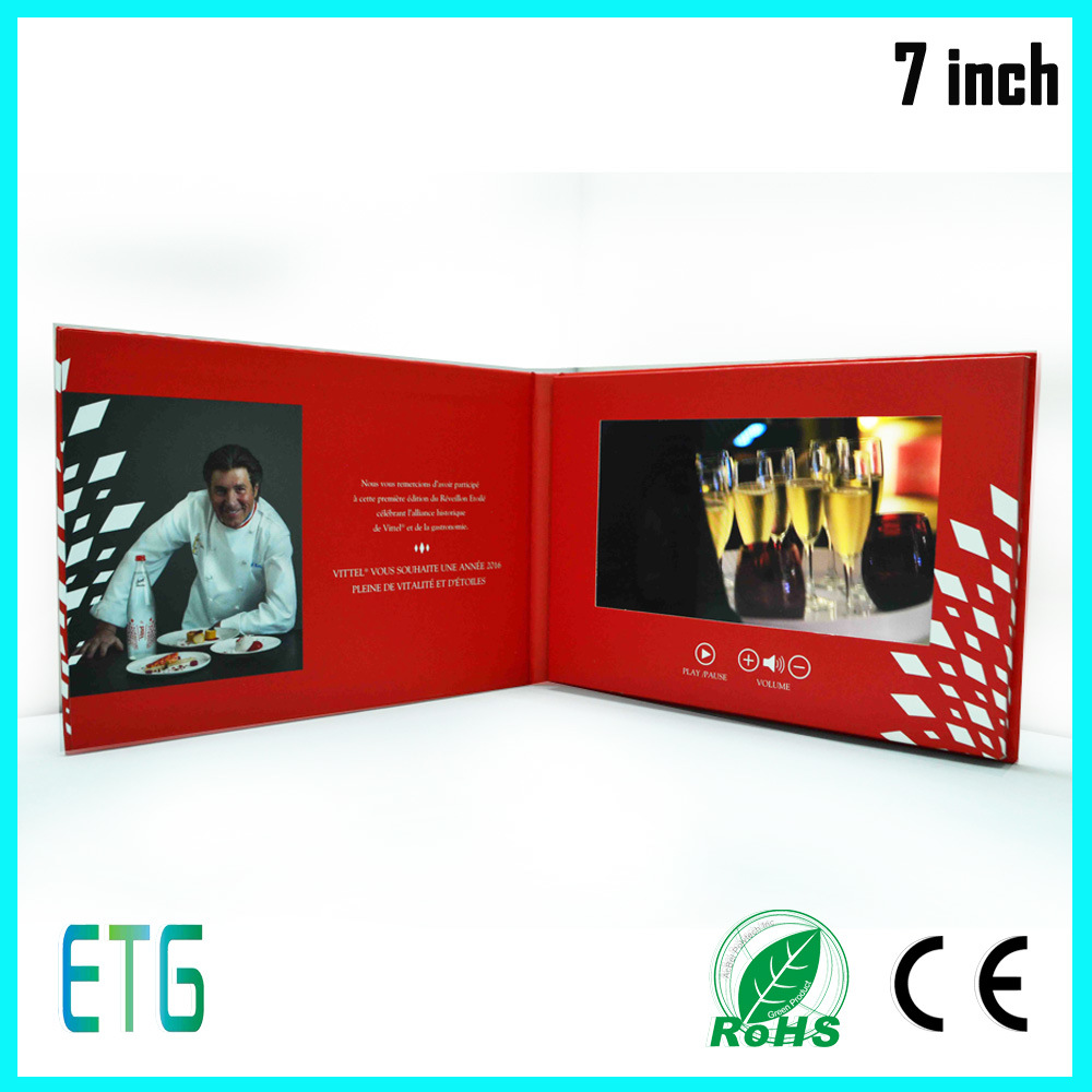 7 Inch Hdips Screen Video Lcd Advertising Greeting Card China