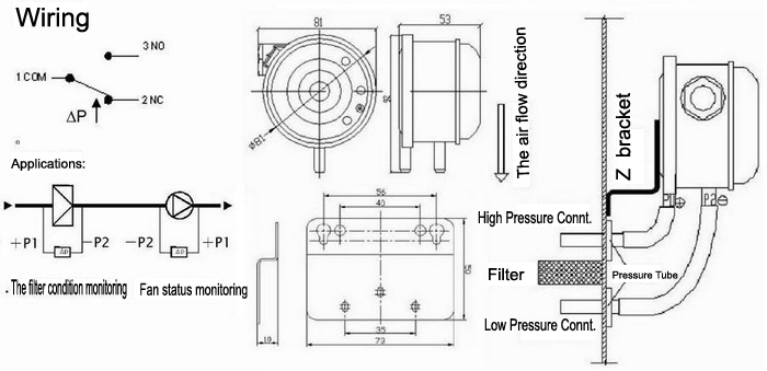 differential pressure switch hook up