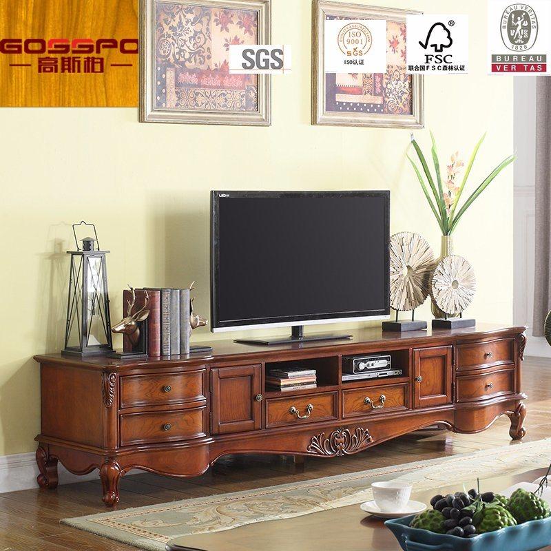 Hot Item Fancy Design Teak Wood Tv Stand Tv Cabinet Gsp13 007