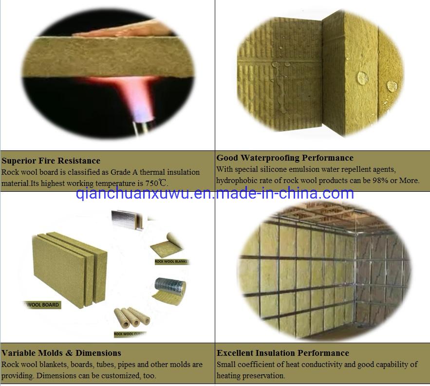 Fireproof Rockwool Insulation Panel Price 50mm Rock Mineral Wool China Rockwool Insulation Made In China Com