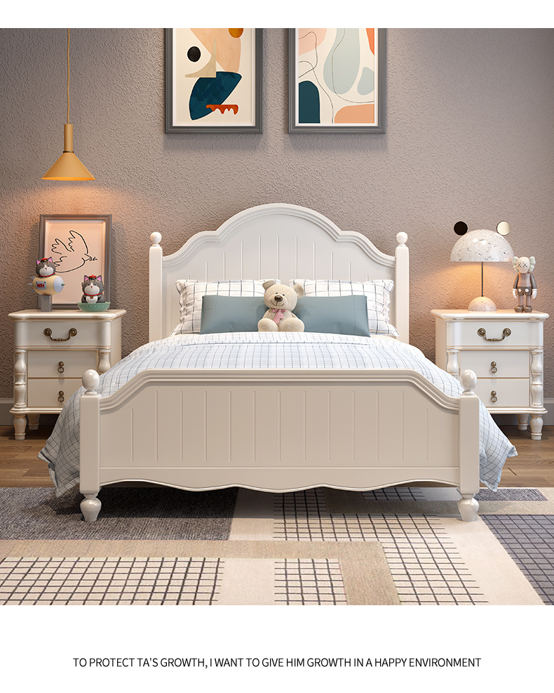 Simple Modern Style Girl Princess, Childrens Bedroom Furniture With Storage