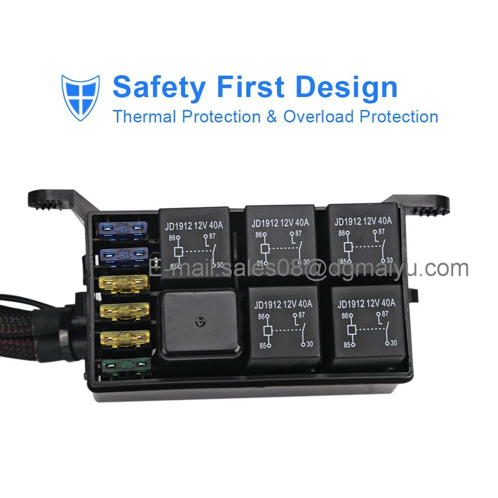 Universally Adaptable Dc12v Led 6 Switch Panel Electronic Relay Wiring Harness Protection An Innovative Unique Marine Grade In The Market 15 Pin Vga Transmission On Or Off Just Touch Lightly Compact Sleek Water Resistant Design