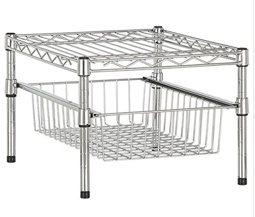 Table Top Diy 2 Tiers Slide Steel Kitchen Mini Wire Basket Rack Design China Wire Basket Rack And Mini Basket Rack Price Made In China Com