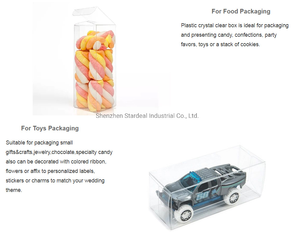 Plastic PVC Box Gift Packaging Waterproof Folding Box Clear