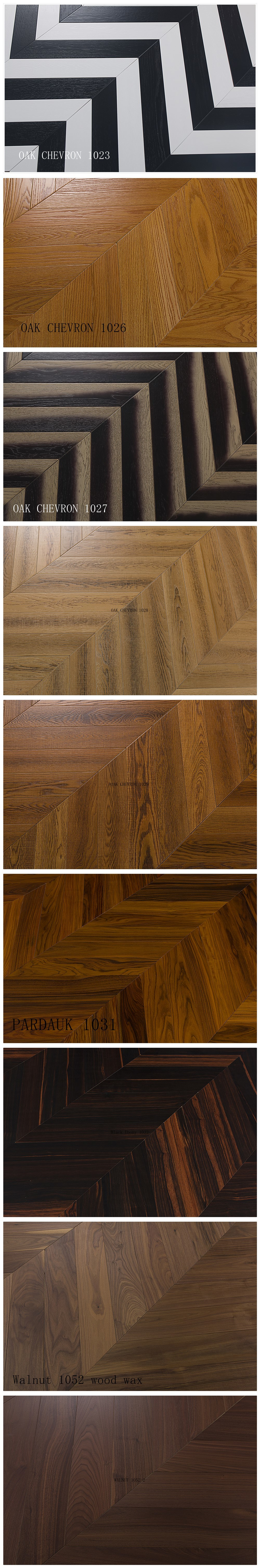 European Oak Engineered Chevron Wood Flooring Nature Wood Wax