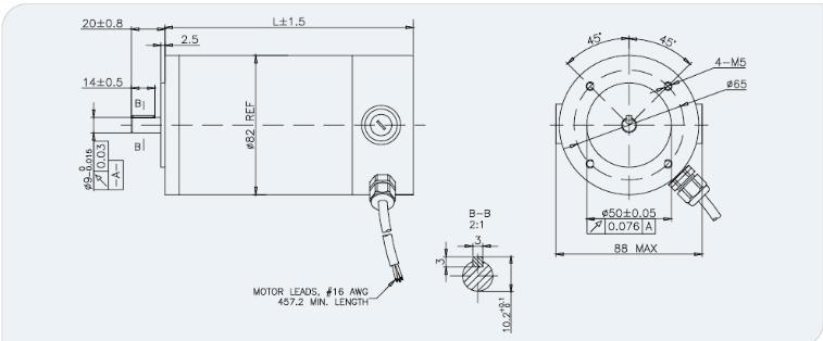 motor del cepillo de la c c  de la nema 90v 34 de 80m m