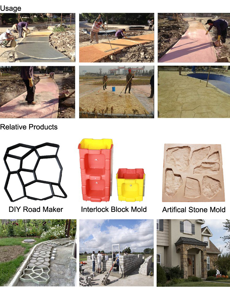 Durable Modeling Random Stone Stamp Stamped Concrete Molds