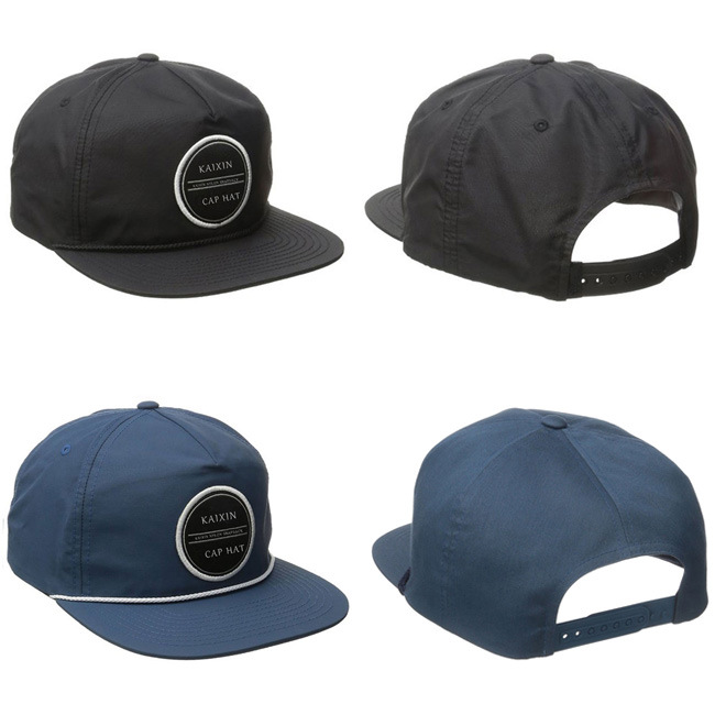 5e55323394c Custom Unstructured Embroidery Patch Nylon Rope Snapback Cap - China ...