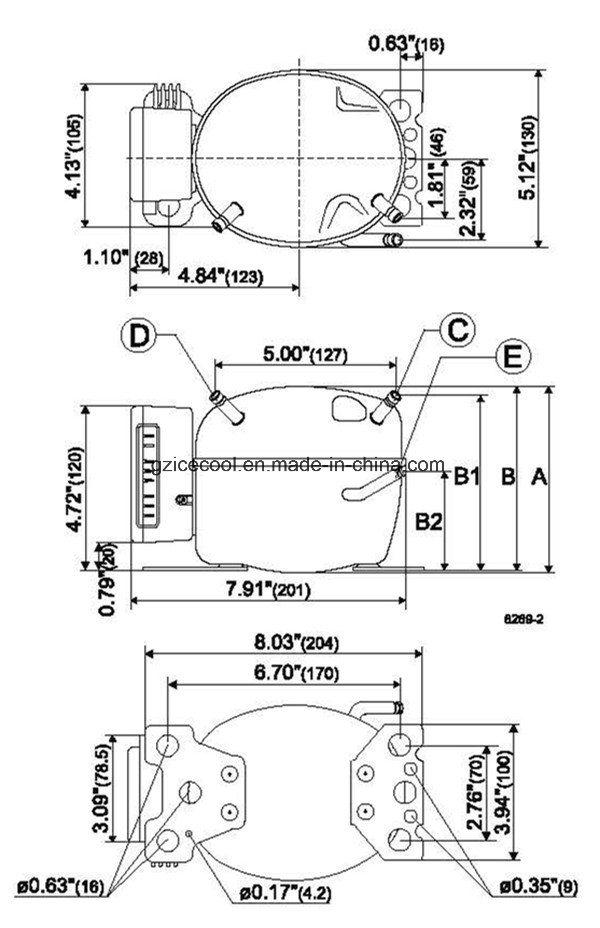 Danfoss 12V-24V DC Mini Fridge/Freezer Vehicle Bd35f Danfoss Refrigerator on