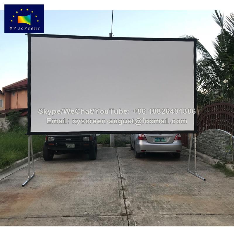 Flexible de PVC suave blanco la pantalla de proyector de plegado ...