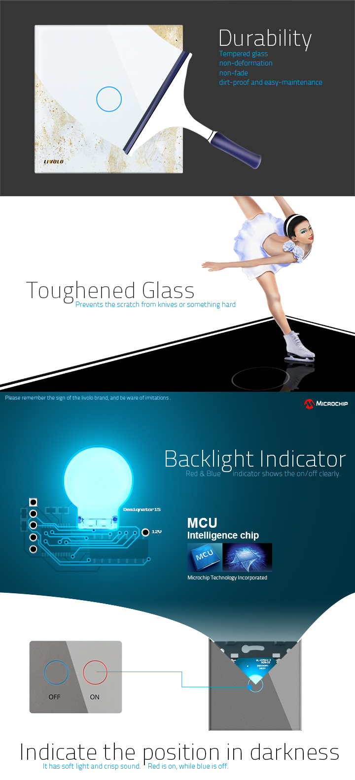 Livolo Eu Two Way Control Smart Home Light Touch Wall Switch Vl With Indicator Note The Is Not Suitable For Inductive Ballast Fluorescent