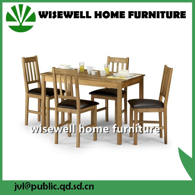 Mesa de comedor de madera de roble macizo con 4 sillas – Mesa de ...