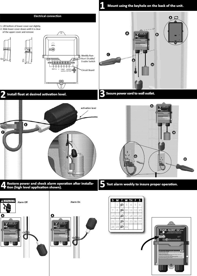 Tank Alert Ez Plus Pump Controller 240 Vac With Alarm And Wiring Diagram 1