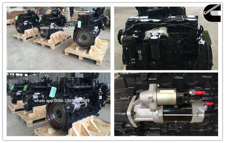 Cummins Qsb6.7 Diesel Engine Motor for Construction Equipment