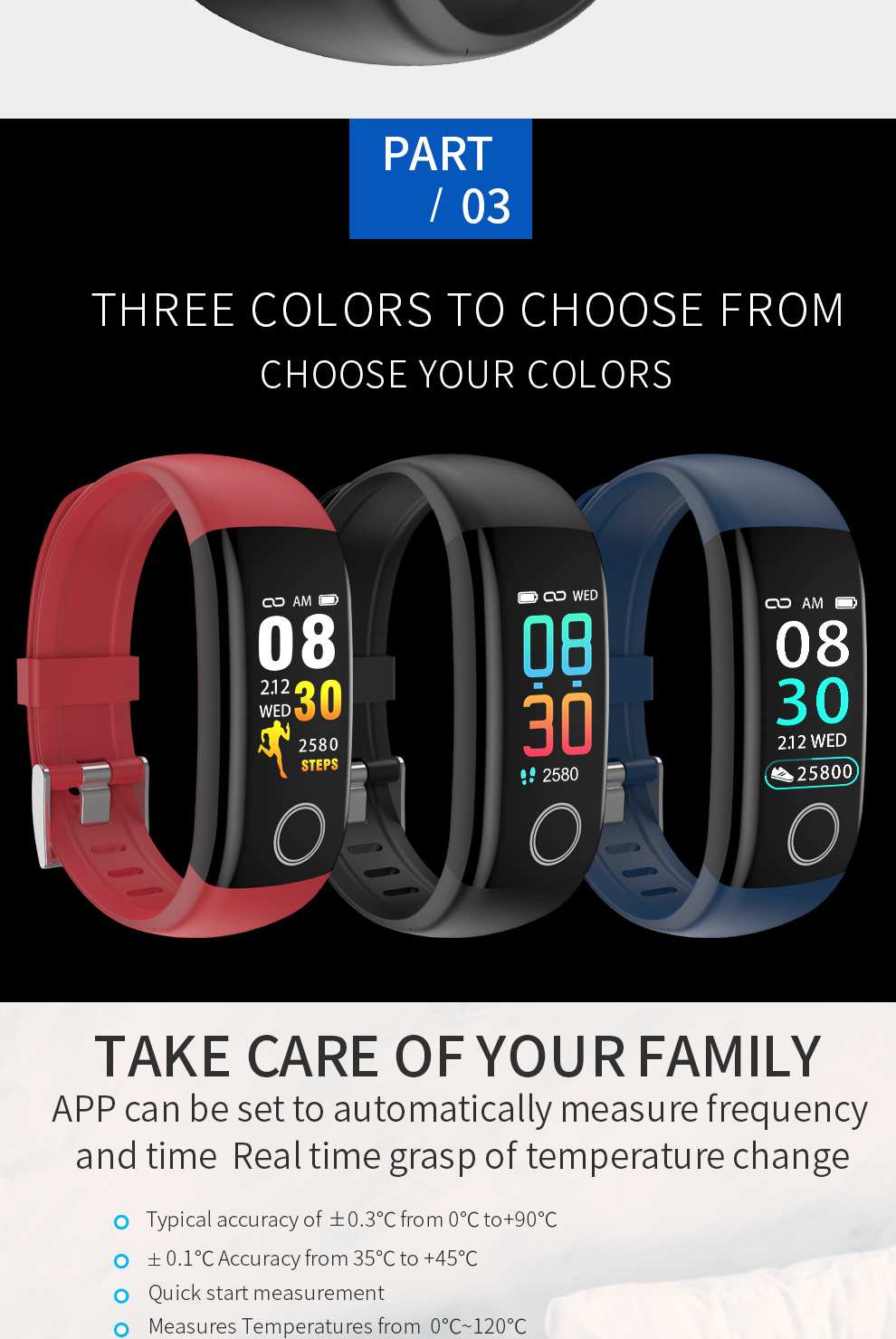 Multi Languages Multi Functions and Multi Modes Smart Bracelet