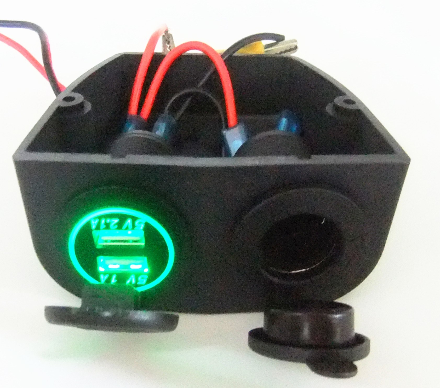 Waterproof Dual Usb Charger Power And Cigarette Lighter Socket With Wiring On Motorcycle The Picture