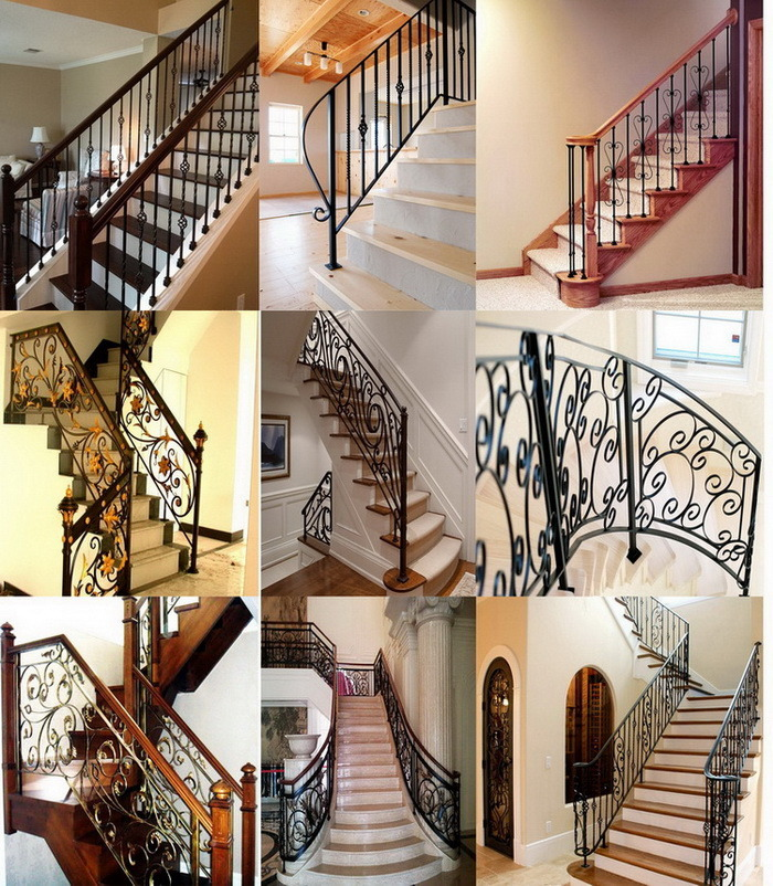 Residential Interior Steel Stairs Railing Designs China Wrought
