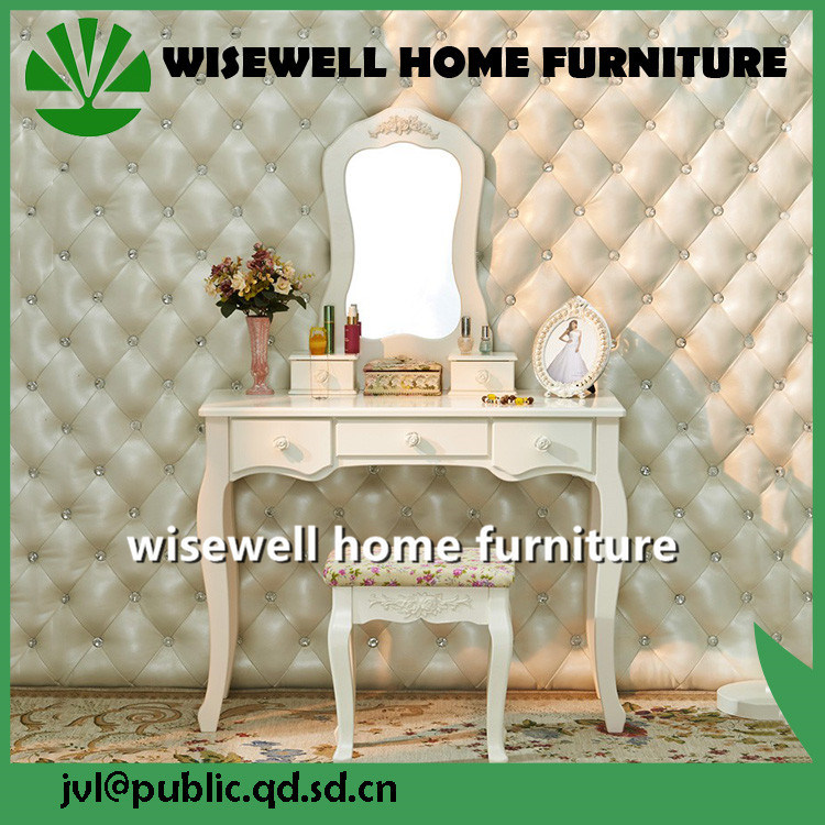 Mesa de tocador de color blanco con 5 cajón (W-HY-057) – Mesa de ...