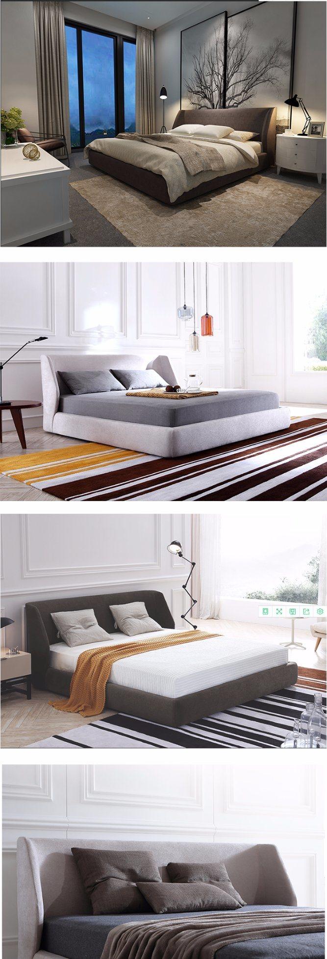 Muebles de diseño italiano moderno rey cuero Cama de matrimonio ...