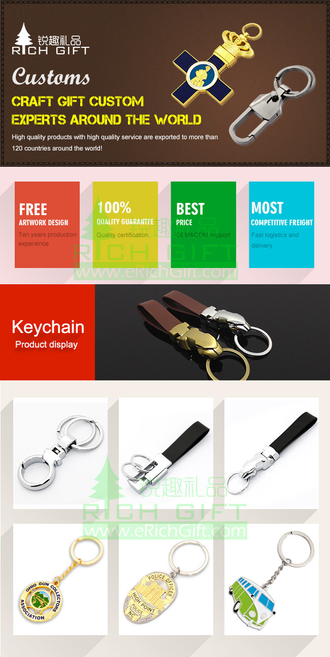 Manufacture Custom Fashion Leather/PVC/Holder/Acrylic/Metal Car Logo Key Chain/Bottle Opener Keyring for Promotional Gifts