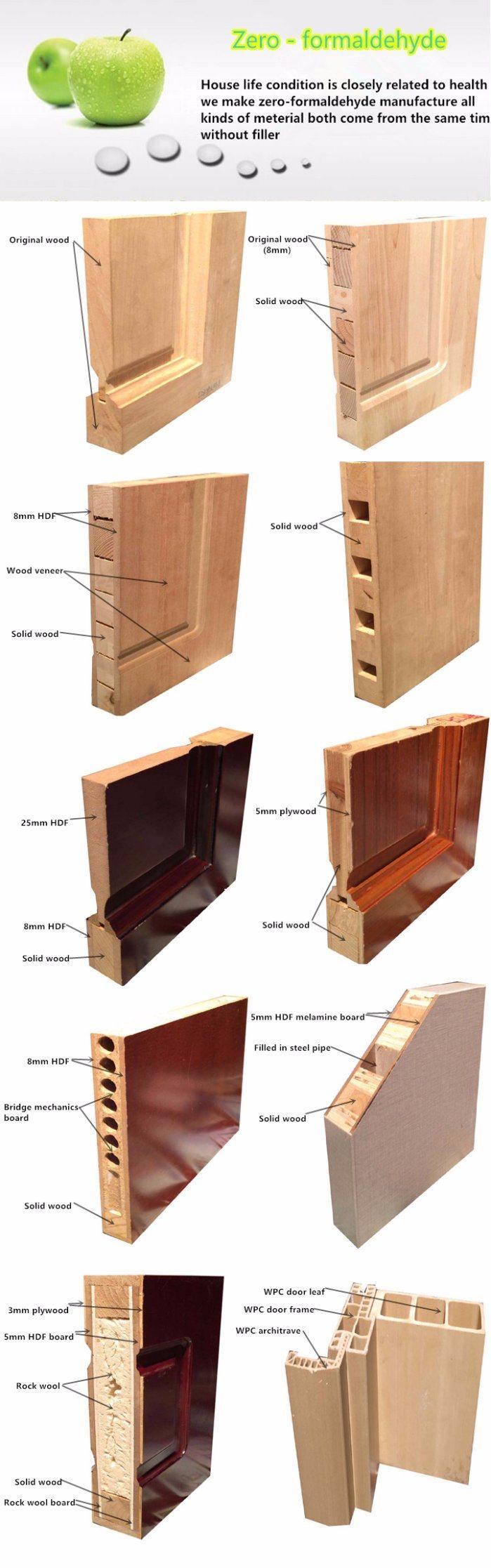 Desheng Miniature External Fire Rated Wood Doors - China Wooden ...
