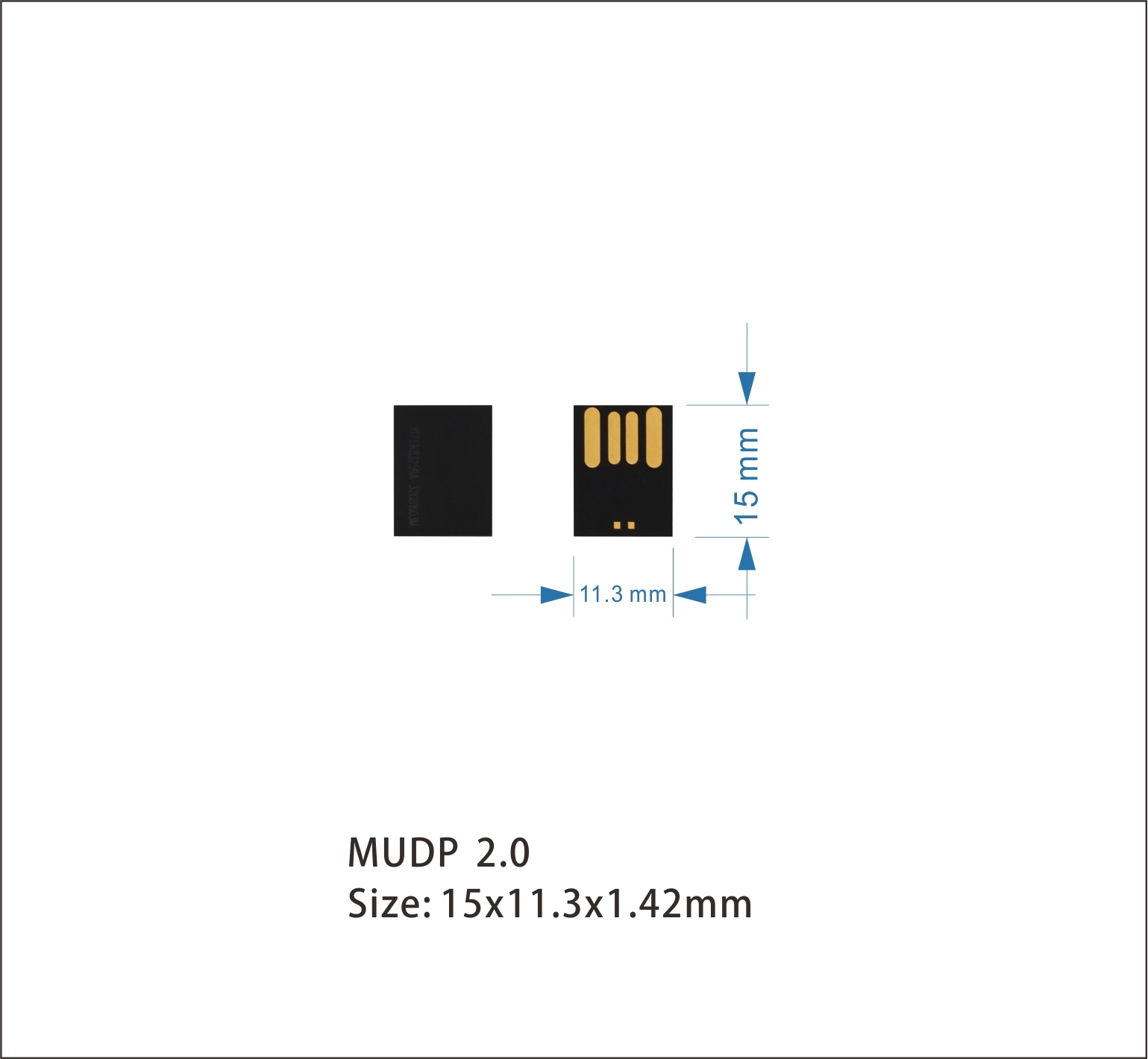 Promotional Gift Mini USB Chip UDP for USB Flash Drive 128MB
