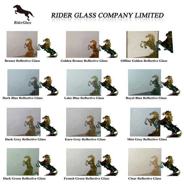 4mm 5mm 6mm Clear Bronze Green Blue Grey Reflective Glass Float