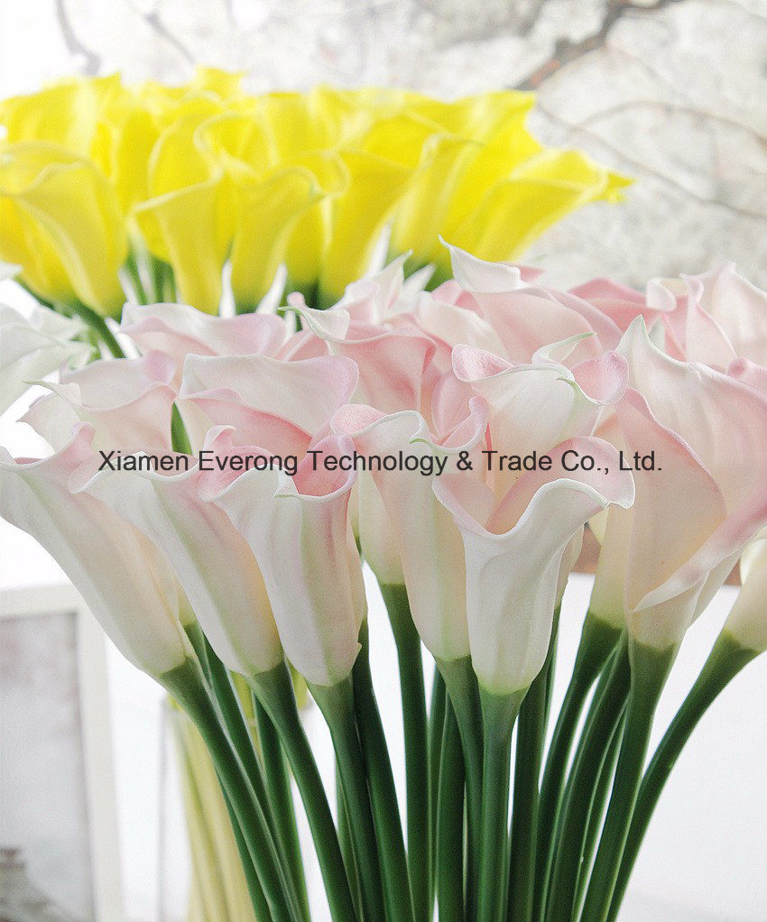 Artificial white and purple calla lily artificial flower real touch artificial white and purple calla lily artificial flower real touch cheap calla lily flowers artificial flowers with great decoration of holiday activities izmirmasajfo