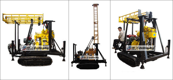 Xy-200c Shallow Water Well Crawler Drilling Rig Germany