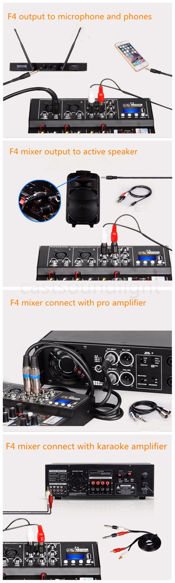 Mini Portable 4 Channel Audio Dj Mixer With Usb Bluetooth Mp3 5 1arena And Stage 2convention Centers 3medium Or Large Ballrooms 4conference Rooms 5theaters Music 6club Church 7concert Group