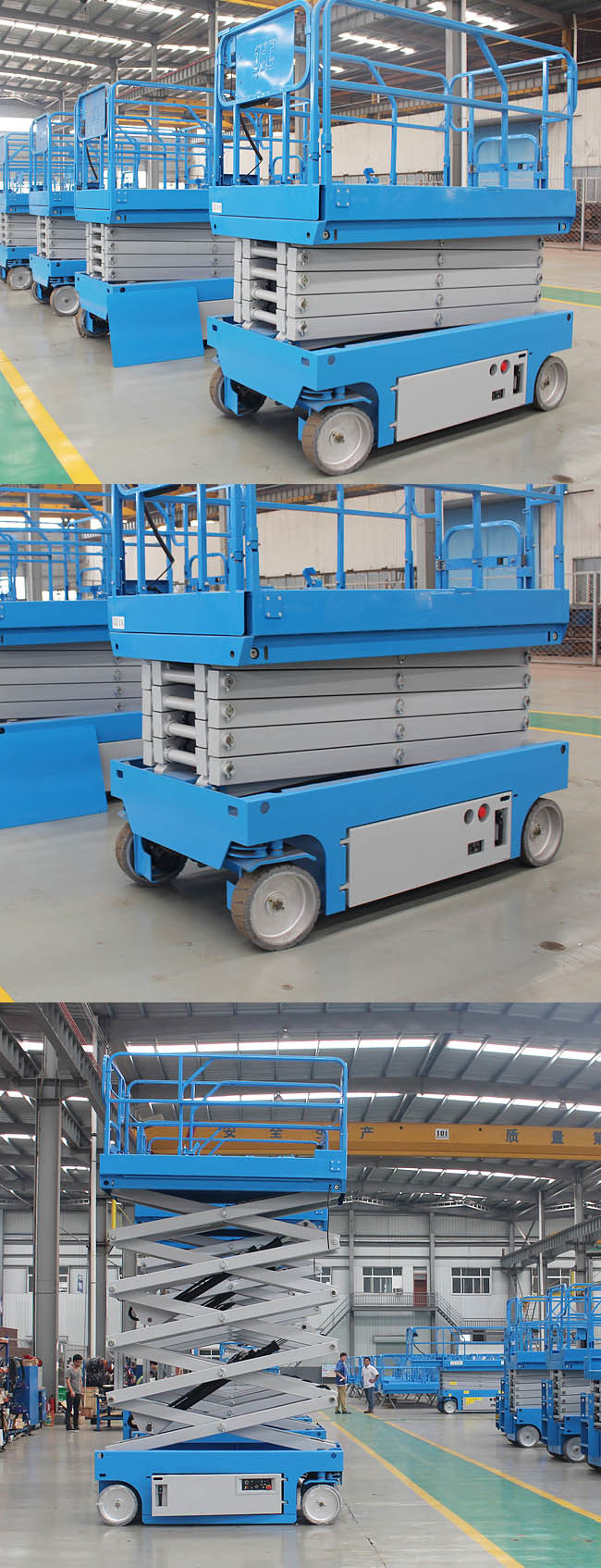 Mobile Mini Automotive Upright Scissor Lift for Outdoor / Indoor ...