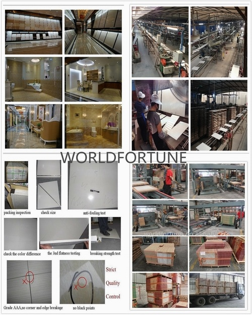 HD6h15 Light Gray Color Line Stone Double Loading Polish Porcelain Floor Tile