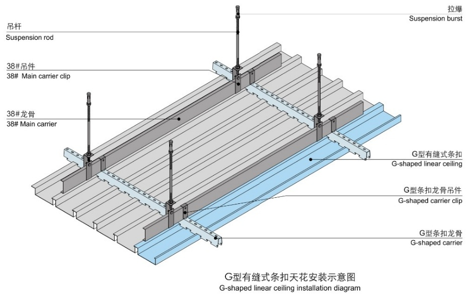G Shaped Linear Tile Ceiling System Installation Guide