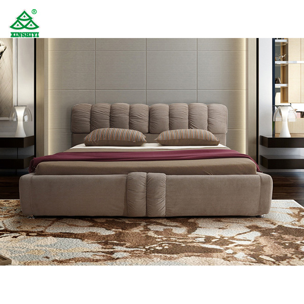 Plywood Double Bed Designs Soft Fabric With Sponge Headboard King Size Bed China Double Bed Double Beds Made In China Com