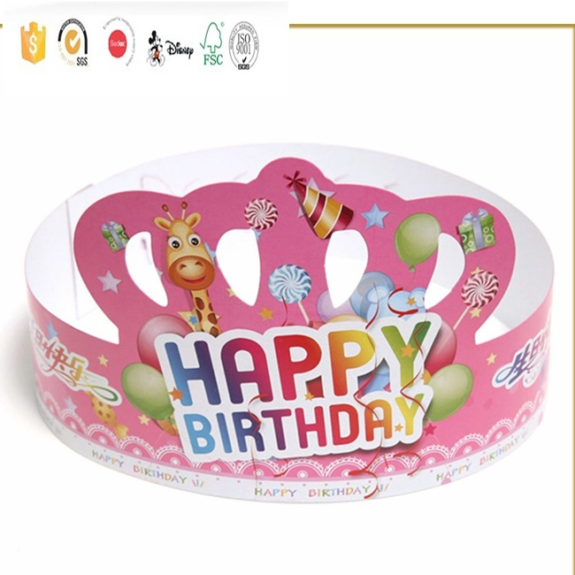 [Hot Item] Custom Promotional Customized Printing Kids Crown Paper Birthday  Party Hat