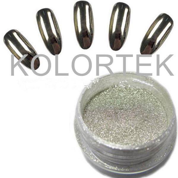 Cromo del espejo de plata pigmentos de efecto para esmalte de uñas ...
