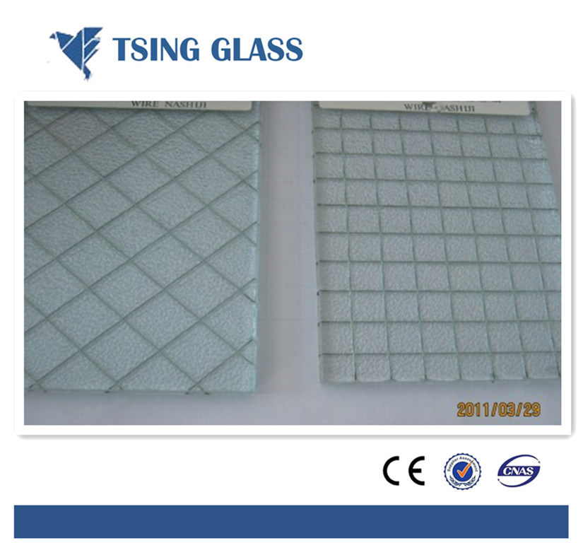Hot Sale Safety Wired Glass / Wire Mesh Security Glass - China ...