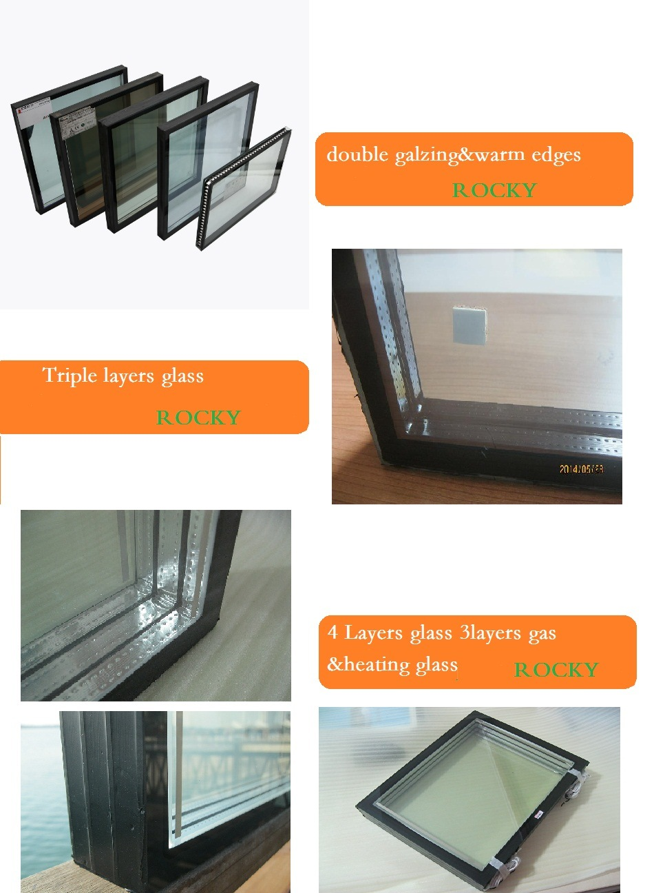 4mm Low E +16A+4mm Igu Insulating/Insulated Glass for Curtain Wall Cooling  System Glass Door